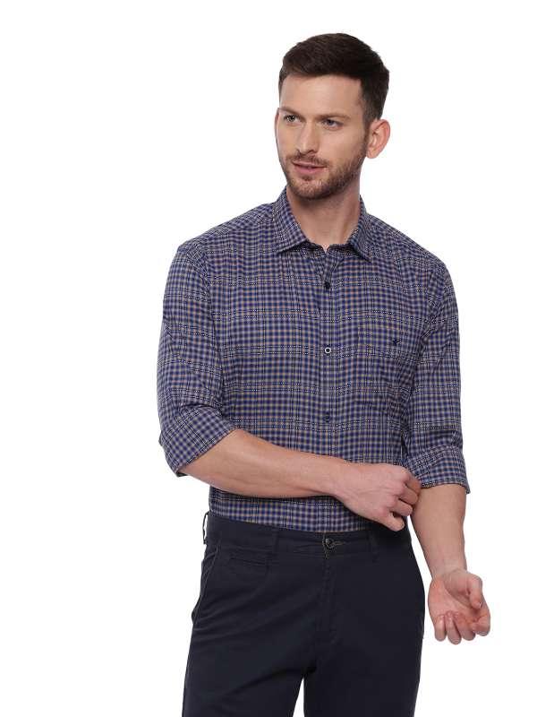 Blue Semi Casual checkered shirt