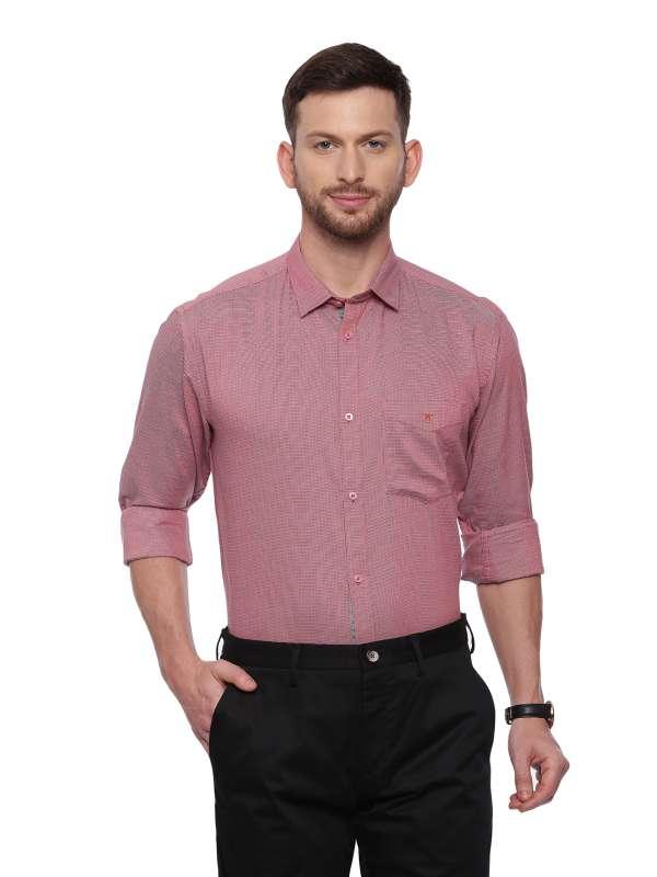 Red Semi Casual Regular solid shirt