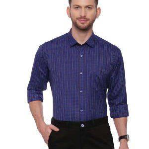 Blue Smart formal Regular Mens checkered shirt