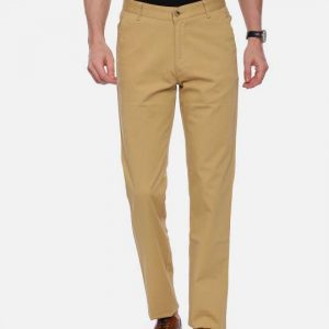 Beige Tapered Tailored Fit Chinos Trouser