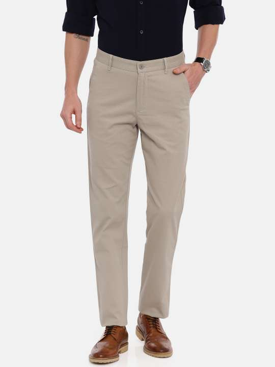 Dark Grey Tapered Tailored Fit Chinos Trouser