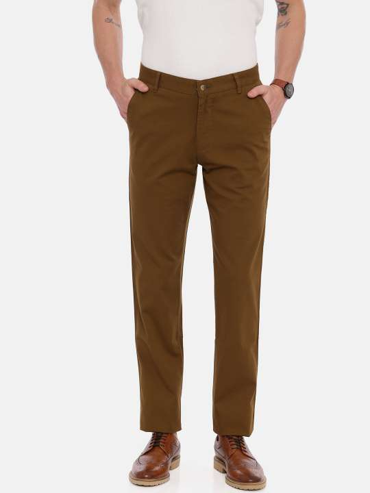 Brown Tapered Tailored Fit Chinos Trouser