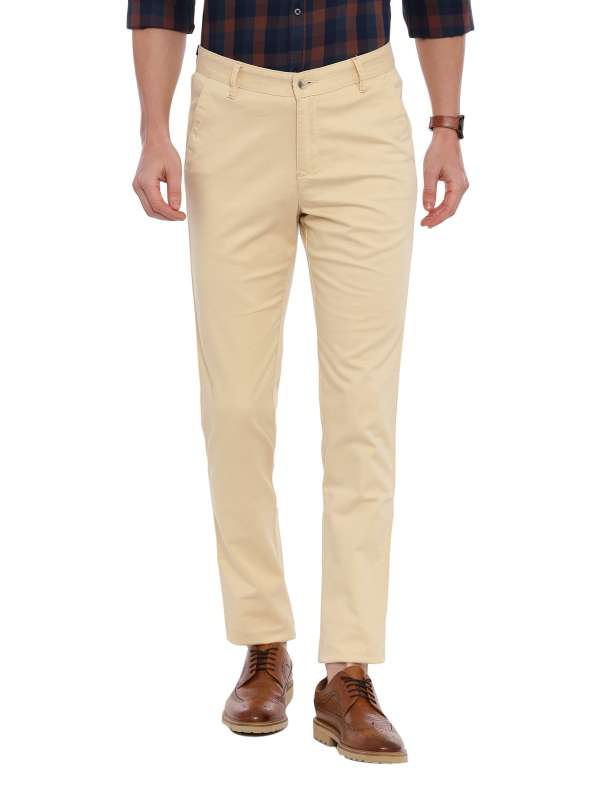 White Tapered Fit Chinos Trouser