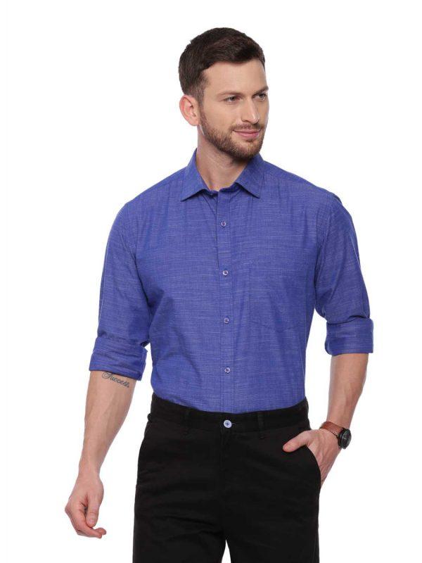 Dark Blue Formal Regular Shirt