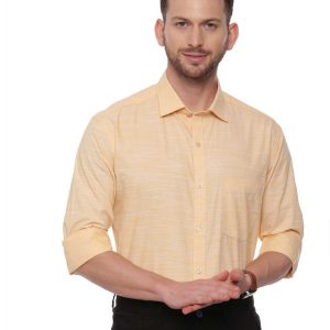 Yellow Formal Regular Shirt