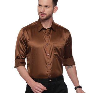 Brown Semi Casual Regular Shirt