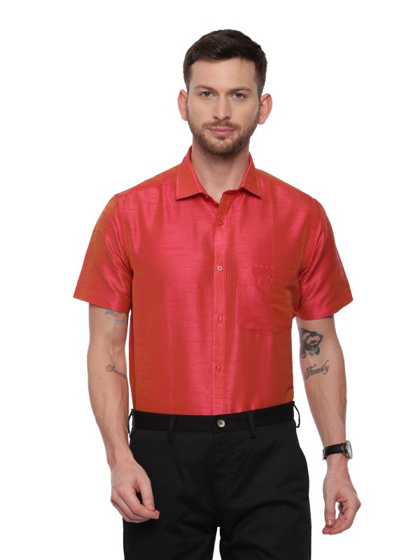 Pink Semi Casual Regular tailored shirt