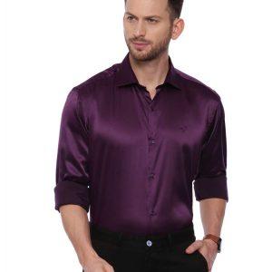 Purple Semi Casual Regular Shirt