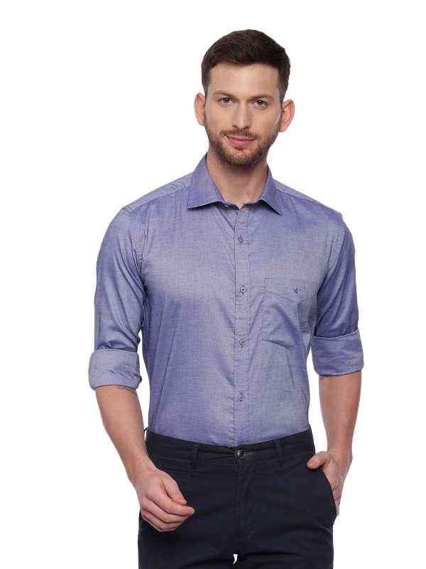 Blue Formal Regular solid shirt