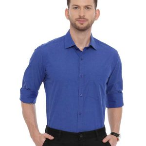 Blue Formal Regular tailored shirt