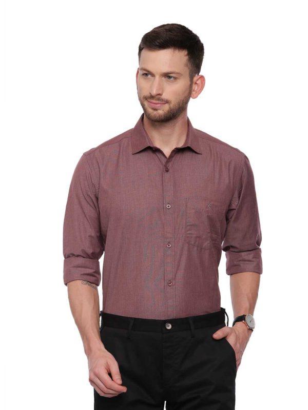 Brown Formal Regular Shirt