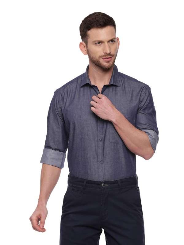 Blue Formal Regular Mens shirt