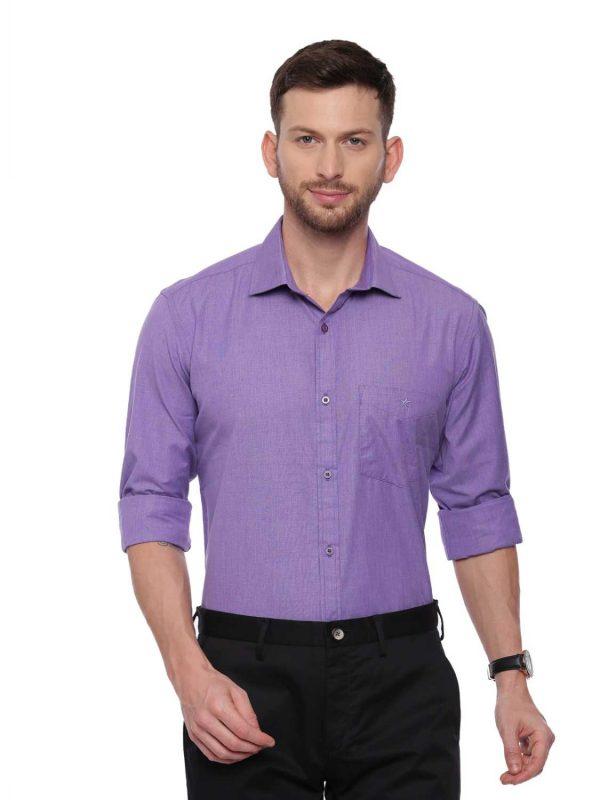 Croydon UK Purple Formal Regular Shirt