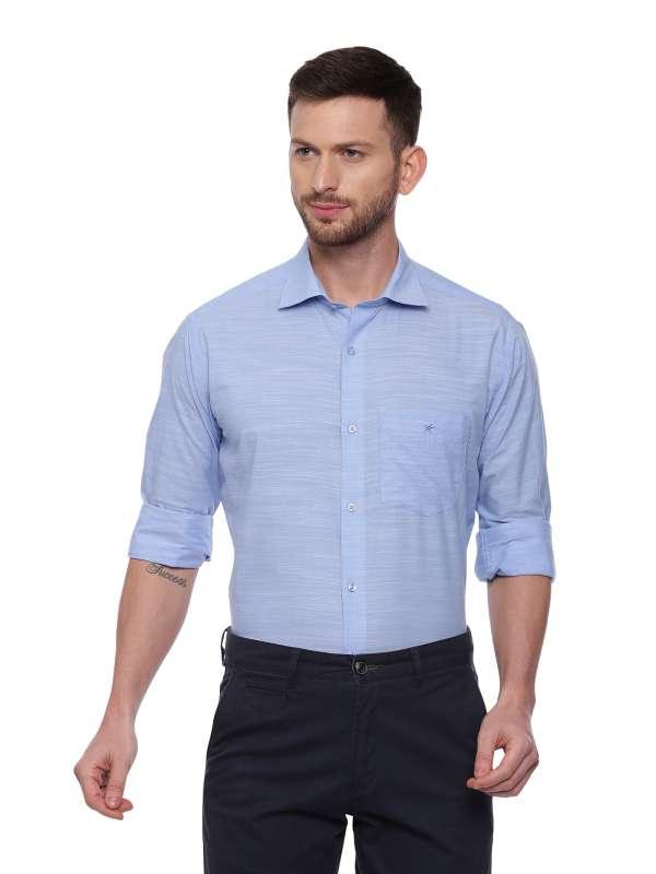 Blue Semi Casual Regular solid shirt