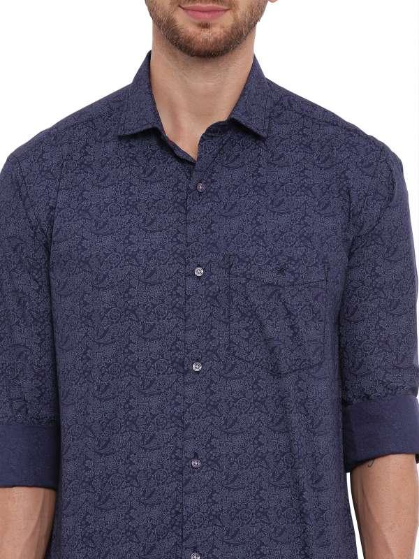 NavyBlue Semi Casual Regular Printed shirt