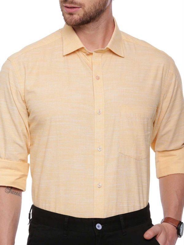 Croydon UK Yellow Formal Regular Shirt