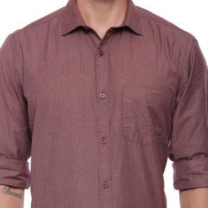 Croydon UK Brown Formal Regular Shirt