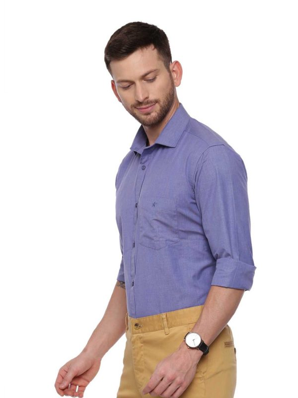 Croydon UK Blue Formal Regular Shirt