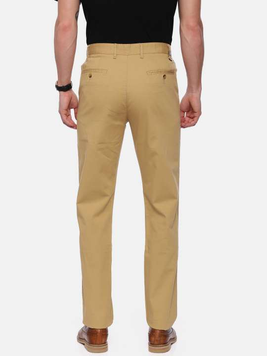 Croydon UK Beige Tapered Tailored Fit Chinos Trouser