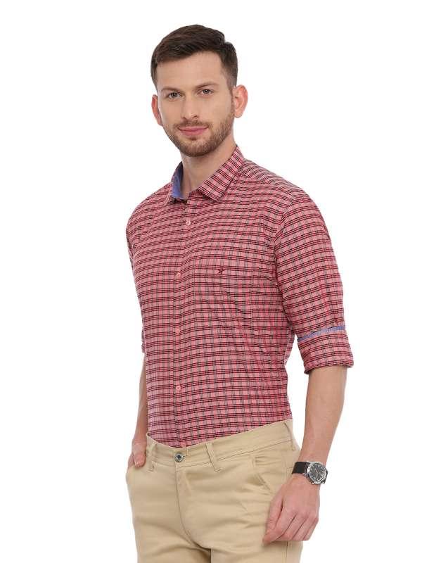 Pink Semi Casual Regular tailored checkered shirt