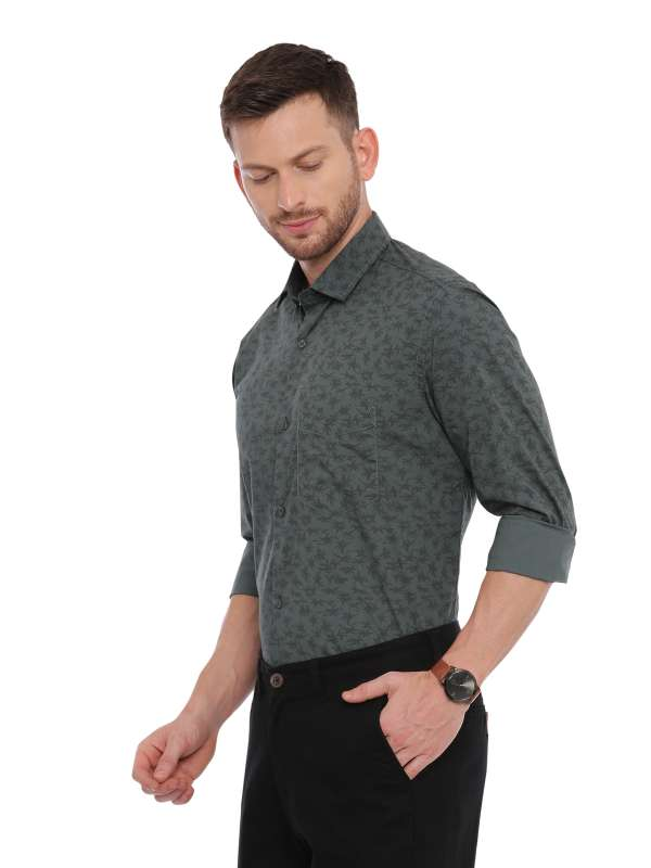 Green Semi Casual Regular tailored Printed shirt