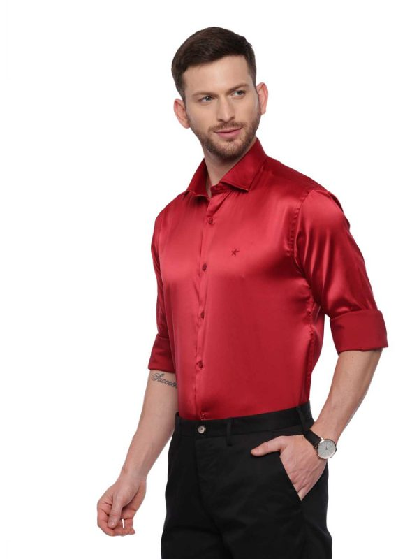 Croydon UK Red Semi Casual Regular Shirt