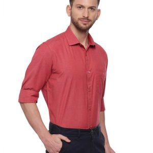 Red Semi Casual Regular Shirt