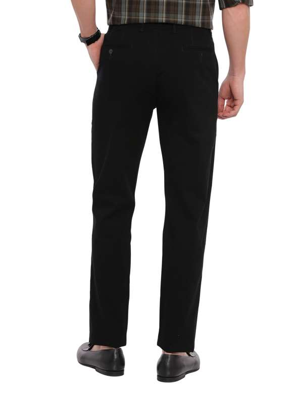 Black Tapered Tailored Fit Chinos Trouser