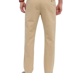 Beige Tapered Fit Chinos Trouser
