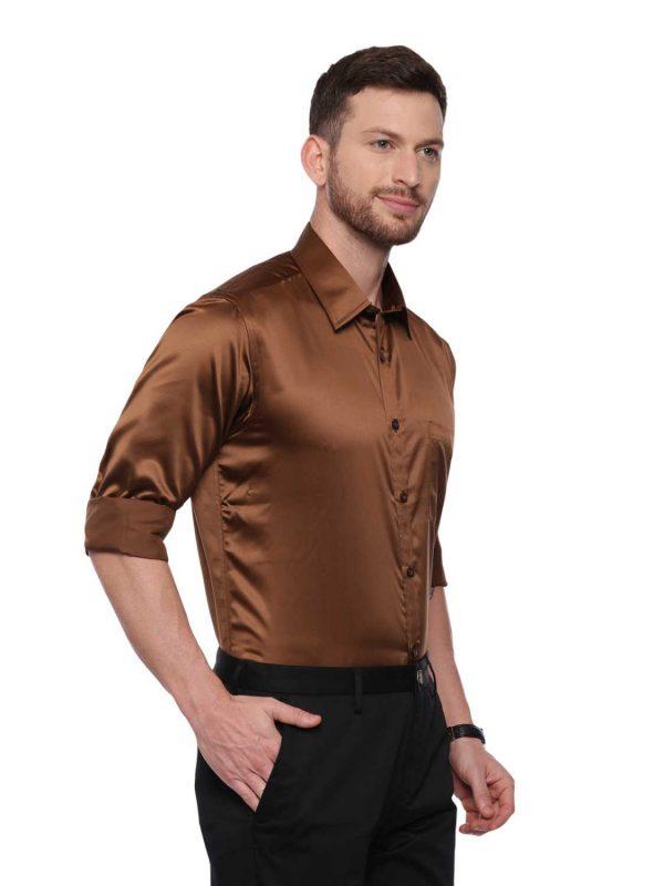 Croydon UK Brown Semi Casual Regular Shirt