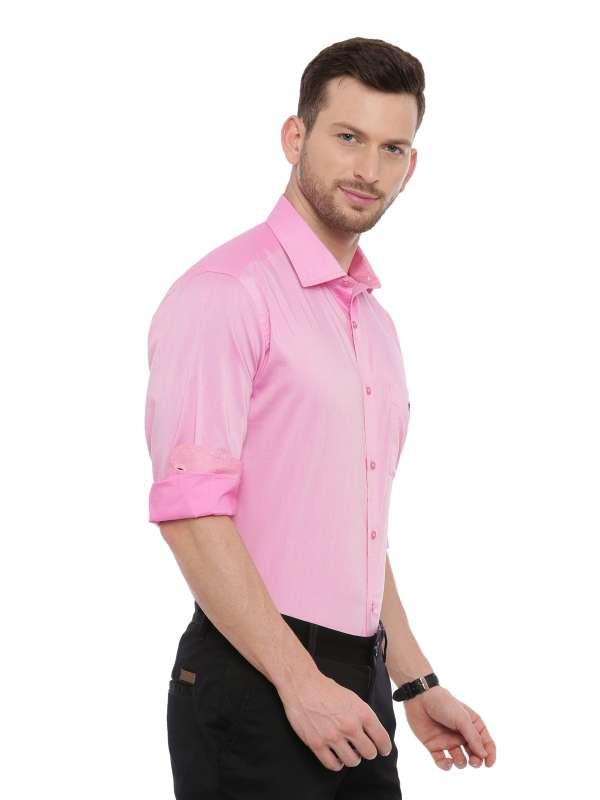 Pink Smart formal Regular tailored checkered shirt