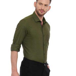 Green Smart formal Regular solid shirt