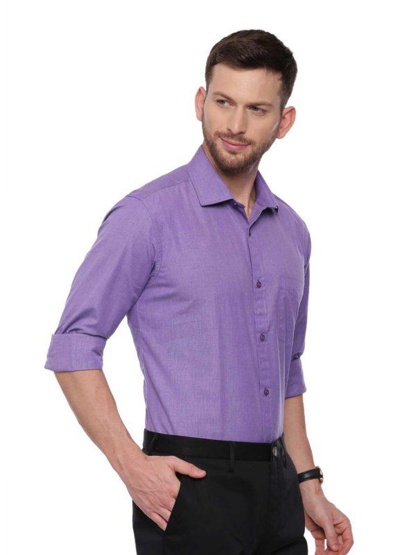Purple Formal Regular Shirt