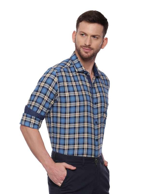 Blue SemiCasual Regular checkered shirt