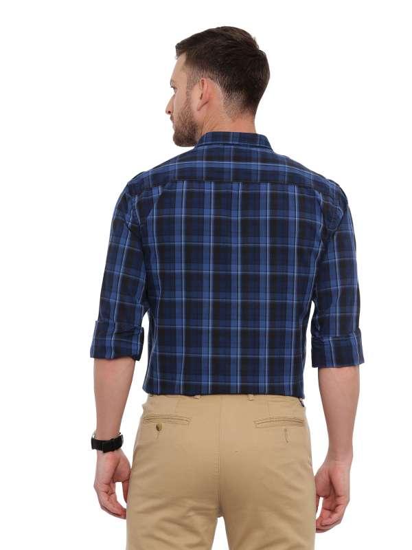 NavyBlue Smart formal Regular checkered shirt