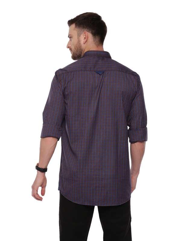 Blue Smart formal Regular checkered shirt