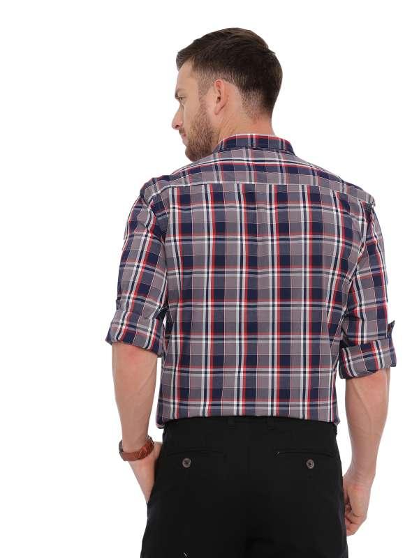 Grey Semi Casual Regular tailored checkered shirt