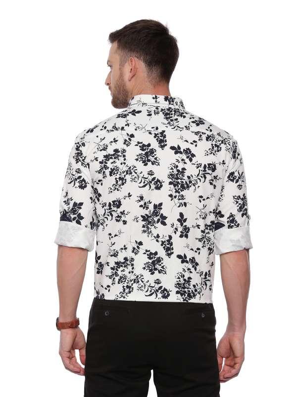 White Semi Casual Regular tailored Printed shirt