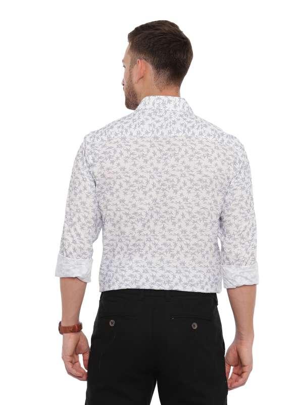 White SemiCasual Regular tailored Printed shirt