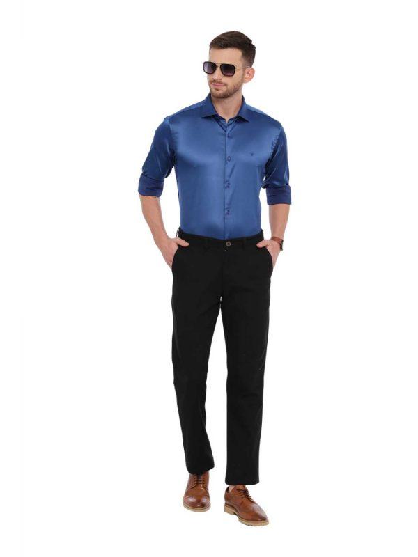 Croydon UK Blue Semi Casual Regular Shirt